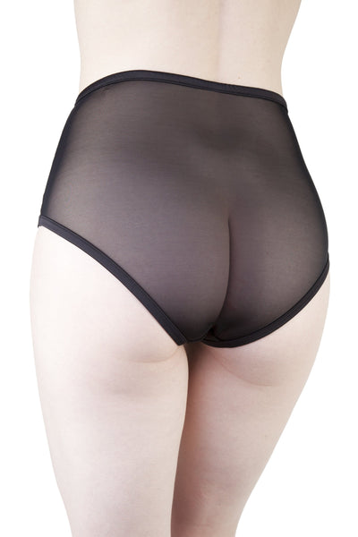 Bernadette Black Corset Front High Waist Brief