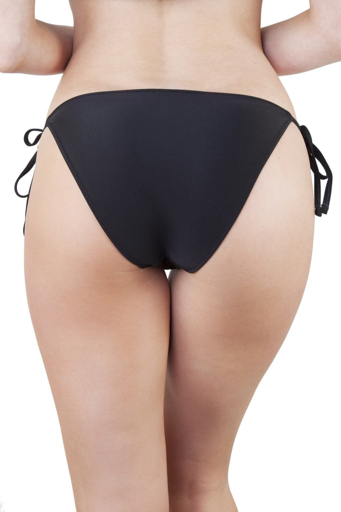 Peek & Beau Black and Bronze Stud Bikini Bottom