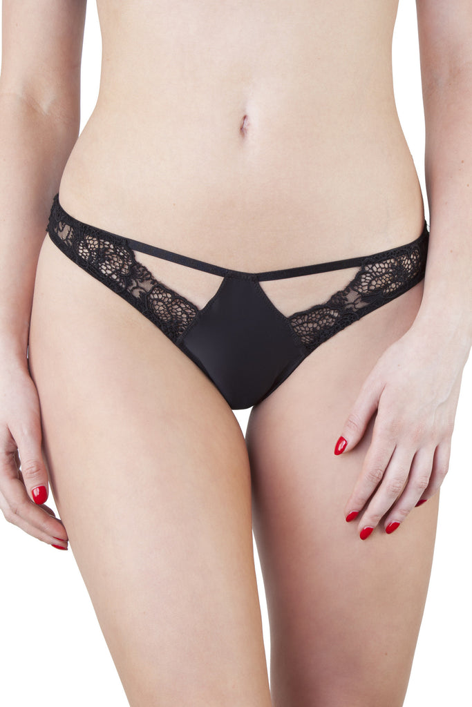 Elsa Black Lace Brief