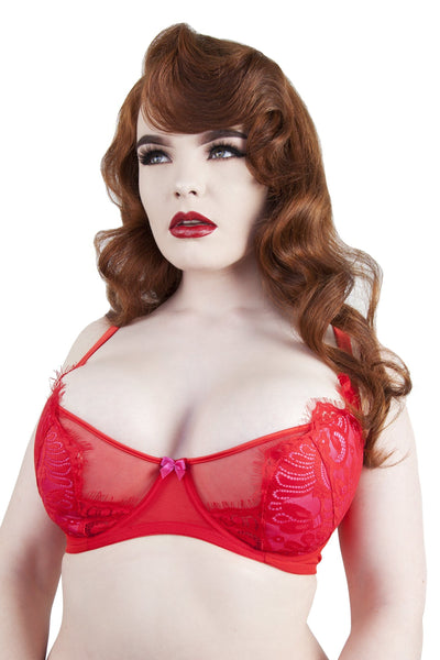 Love Pink/Red Bra DD+ Cups