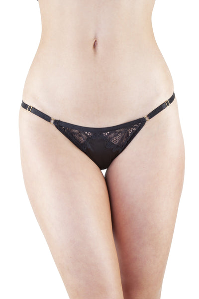 Peek & Beau Dorothea Black Lace Strappy Brief
