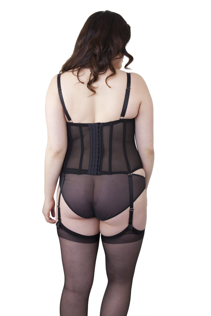 Carlota Black Tulle Basque Curve
