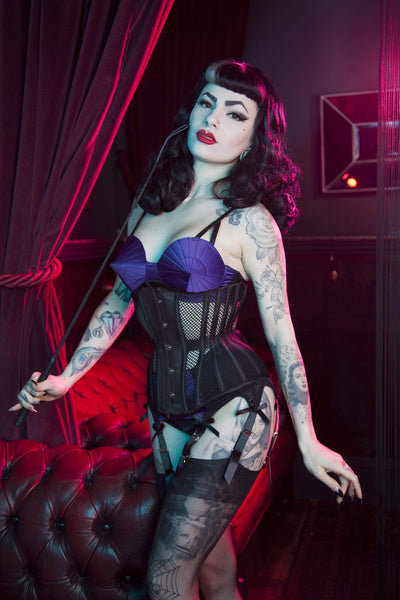 Bettie Page Fishnet Mesh Underbust Corset