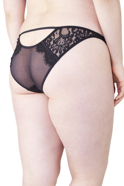 Sandrine Lemonade/Black Brief Curve
