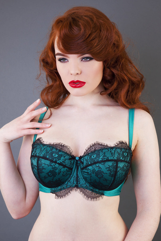 emerald green lace bra lingerie full bust