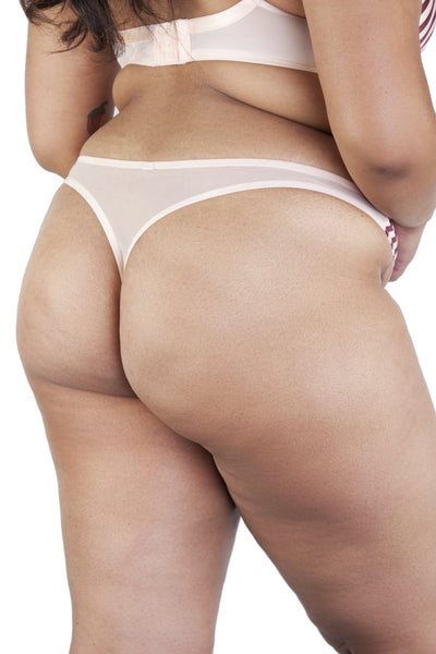 Beatrix Red Placement Stripe Thong Curve