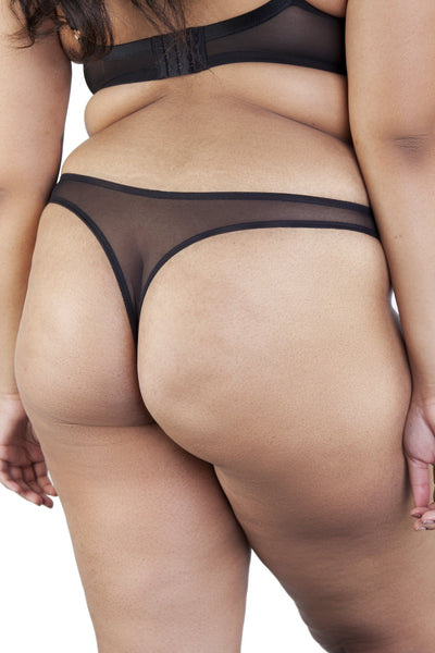 Beatrix Ivory Placement Stripe Thong Curve
