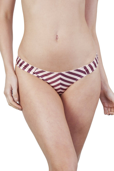 Beatrix Red Placement Stripe Thong Core