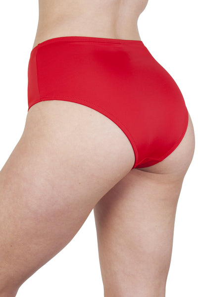 Peek & Beau Méret Red Zip Front High Waist Brief