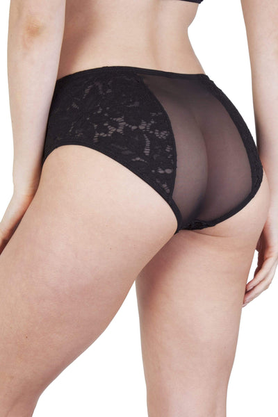 Peek & Beau Toyen Black Mesh & Lace HW Corset Brief