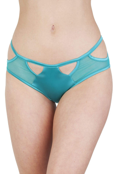 Junko Turquoise Origami Cut-Out Brief