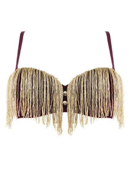 Peek & Beau - Major Velvet Tassle Bra Curve