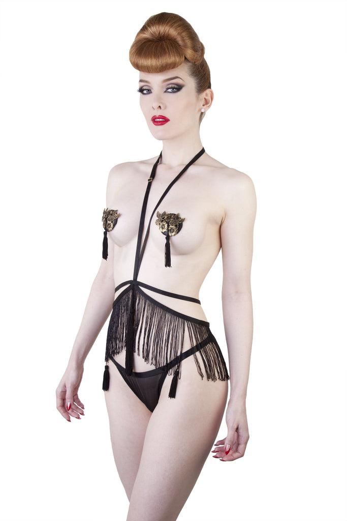 Peek & Beau Nadia Tassle Harness - adjustable US 4-12