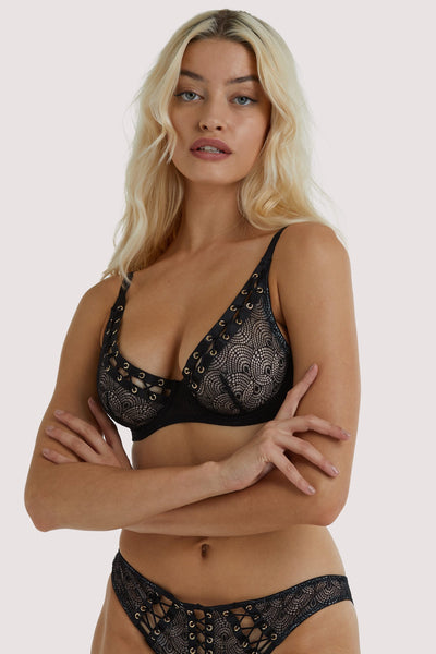 Playful Promises Florence Black Lattice Bra