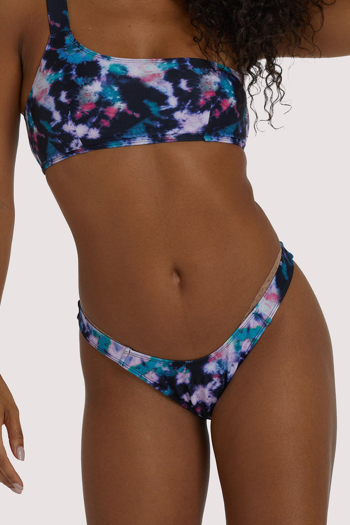 Luxe Palm High Leg Bikini Bottom