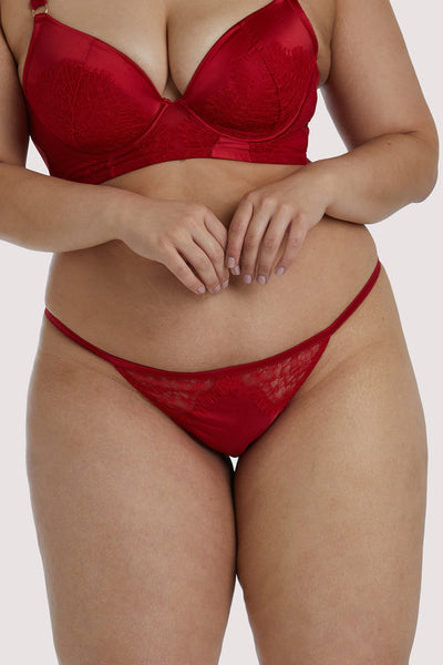 Playful Promises Melina Red Tanga Curve Brief