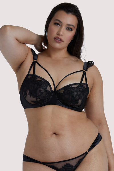 Playful Promises Anneliese Black Lace Curve Bra