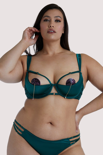 Playful Promises Ava 1/4 Cup Curve Green Bra