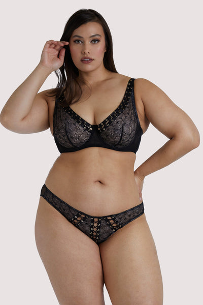 Playful Promises Florence Black Lattice Curve Bra