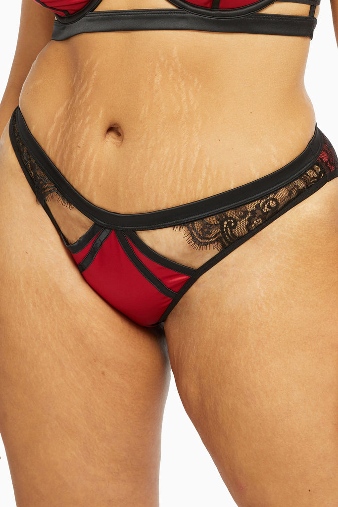 Playful Promises Tasmin Ruby Lace Brazilian Curve Brief