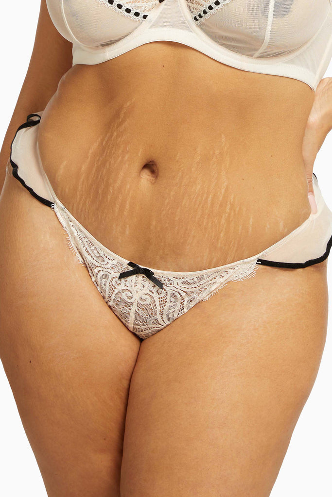 Monica Ribbon Slot Brief Peach Curve