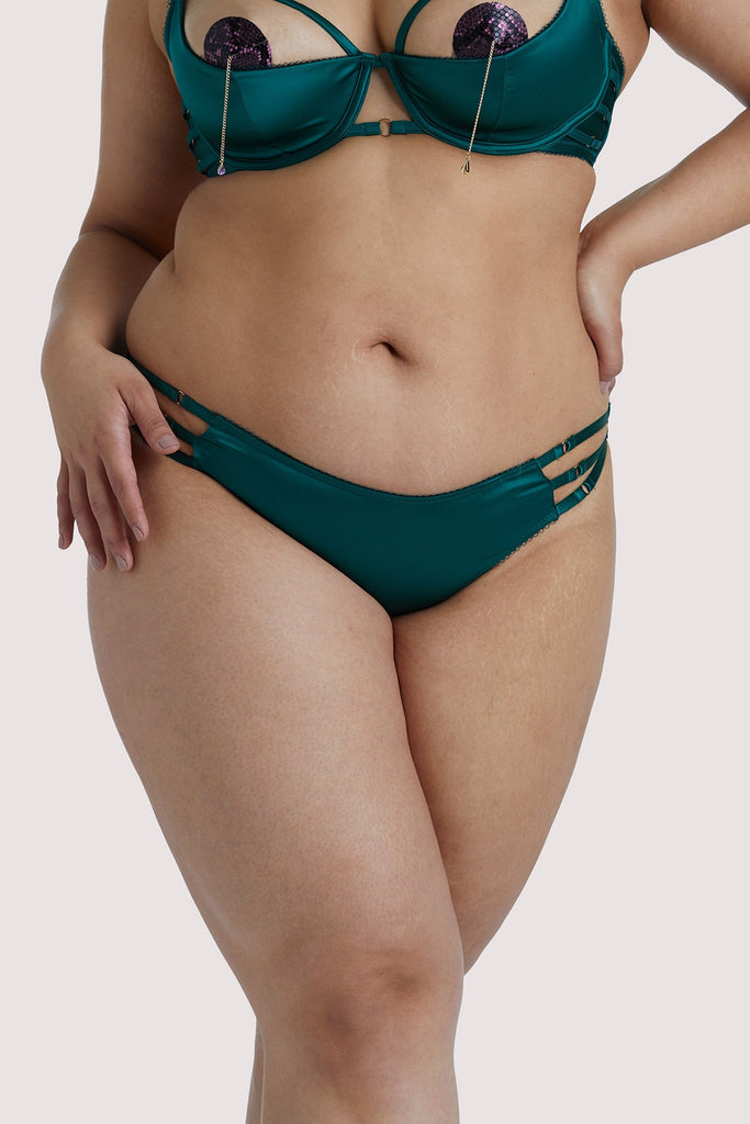 Playful Promises Ava Green Strappy Curve Brief