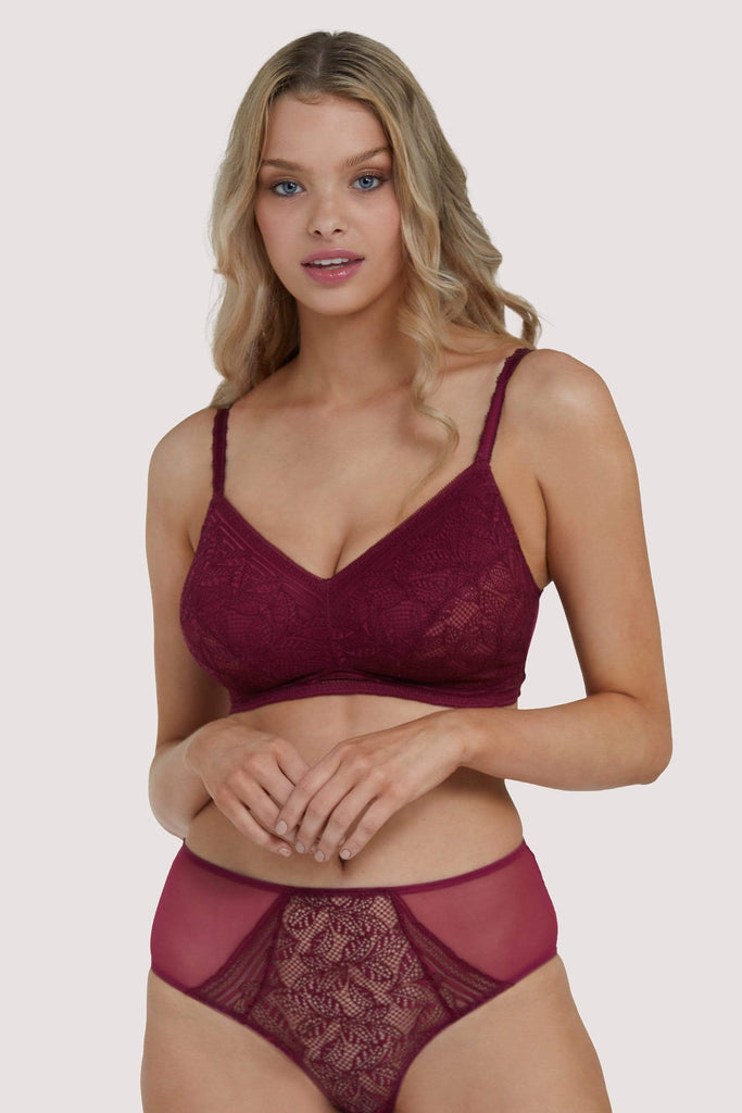 Deja Day Emma Merlot Ultimate Comfort Wireless Bra