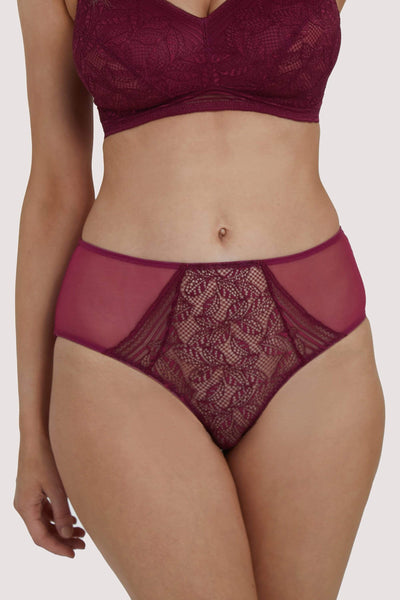Deja Day Emma Merlot High Waist Brief