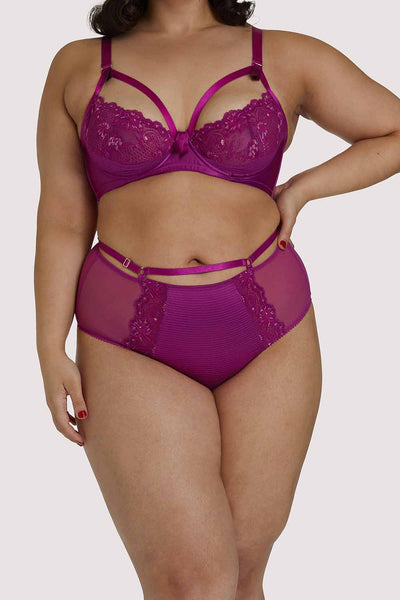 Dita Von Teese Madame X Magenta Curve High Waist Brief
