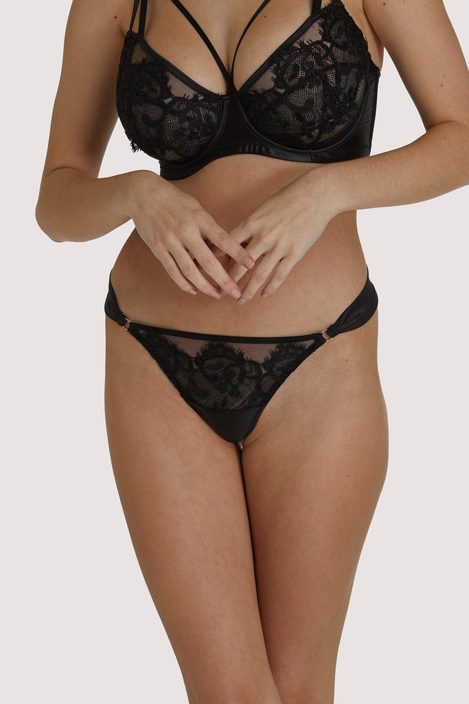 Playful Promises Anneliese Black Lace Thong