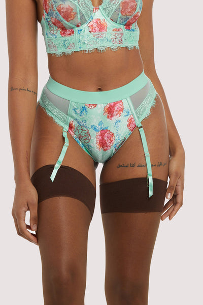 Felicity Hayward Sabey Mint Floral High Waist Brief