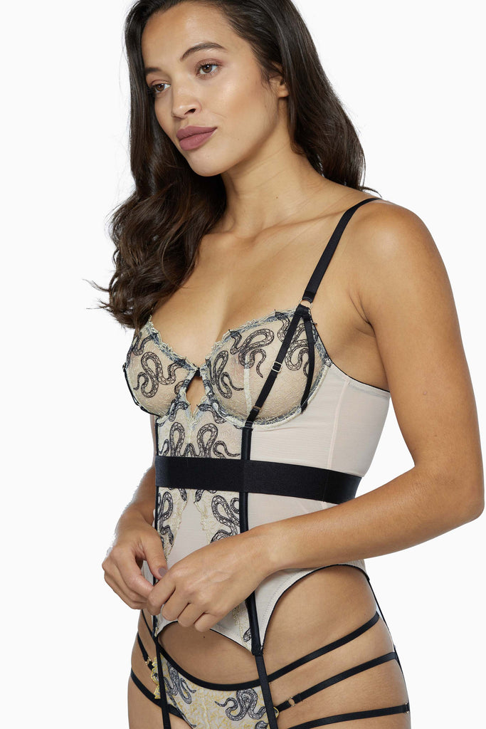Dakota Snake Basque with Cut Out Front