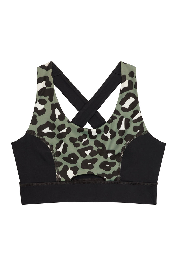 Wolf & Whistle Cross Back Bra Leopard