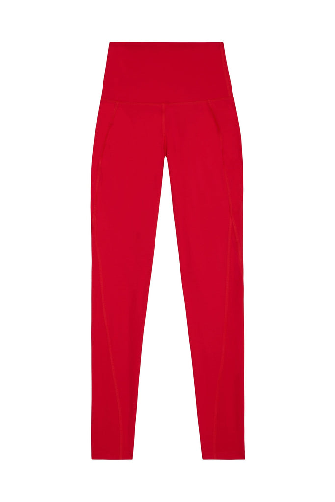 Wolf & Whistle High Waist Leggings Red Curve
