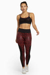 Wolf & Whistle Red Wet Look Leopard High Waist Leggings