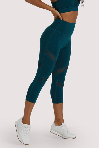 Wolf & Whistle Teal Crop Legging