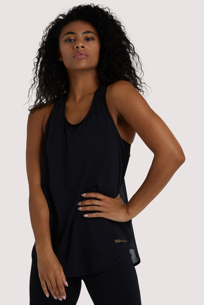 Wolf & Whistle Black Jersey Vest