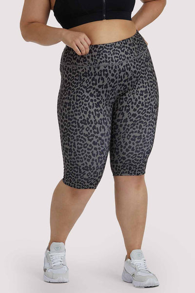 Wolf & Whistle Eco Dusty Olive Leopard Curve Shorts