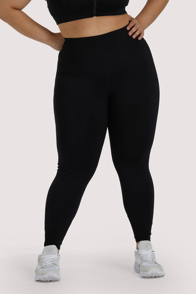Wolf & Whistle Eco Black Mesh Panel Leggings Curve
