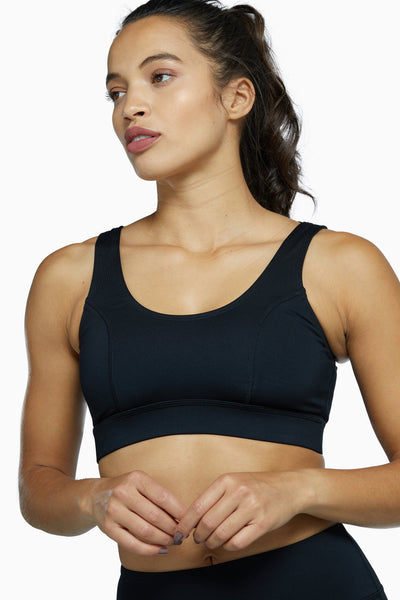 Wolf & Whistle Mesh Panel High Neck Sports Bra