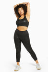 Wolf & Whistle Wet Look Leopard Black HW Leggings Curve