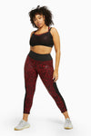 Wolf & Whistle Red Wet Look Leopard HW Leggings Curve