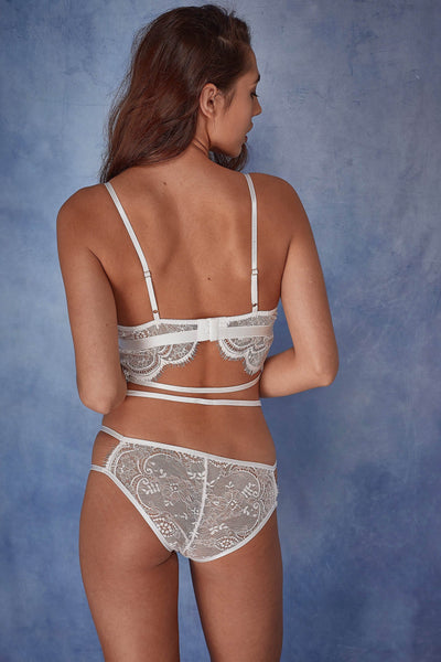 Wolf & Whistle Tanja white lace soft cup bra