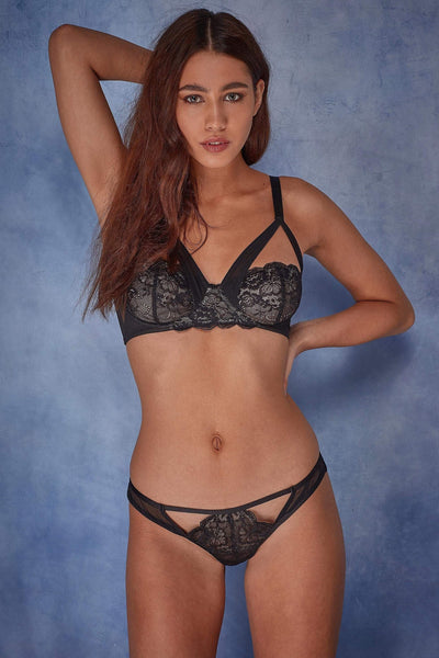 Wolf & Whistle Phoebe Lace and mesh overlay bra