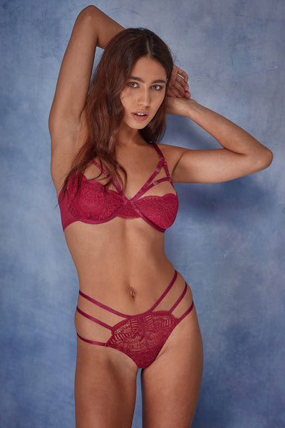 0ea5c48a56606 ... Wolf   Whistle Cecile Lace Cut Out Strappy Bra B - G