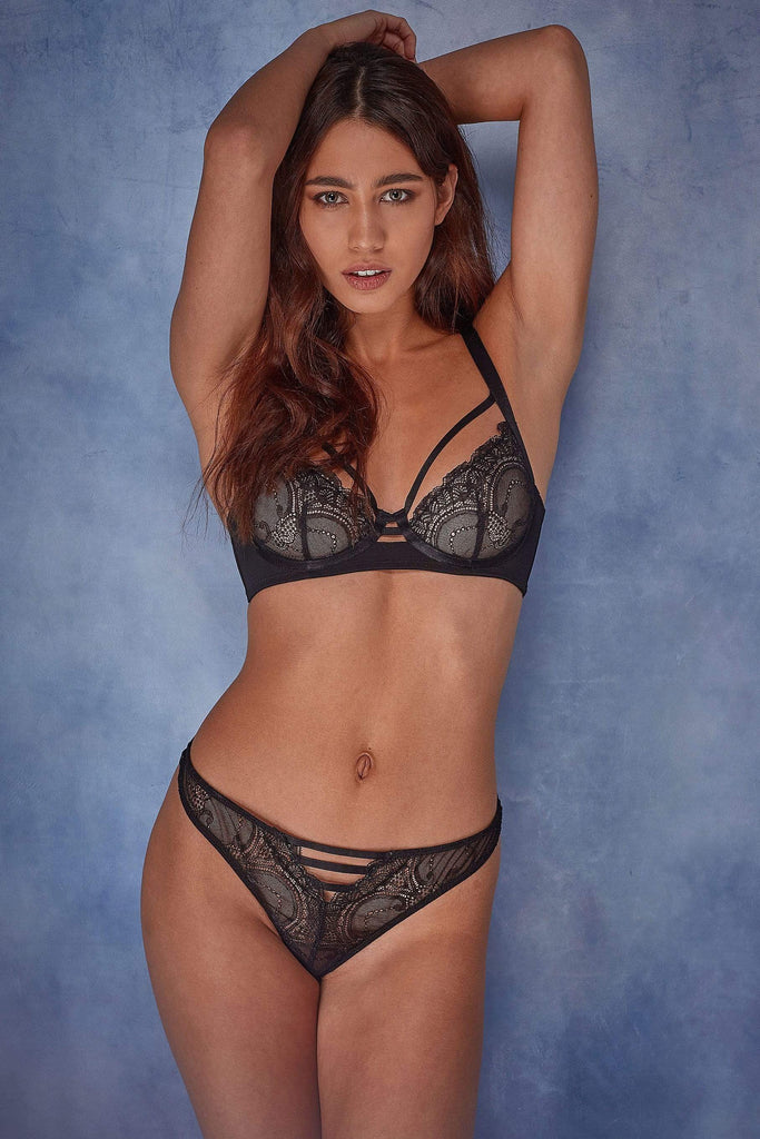 Wolf & Whistle Daria Lace open front thong
