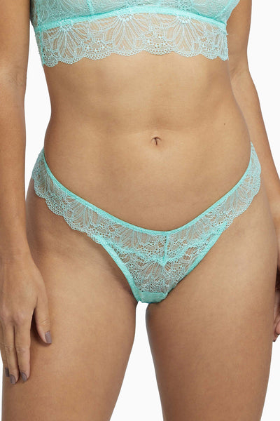Wolf & Whistle Ariana Mint Everyday Lace Thong
