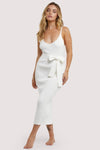 Wolf & Whistle Lounge Ivory Knitted Rib Dress