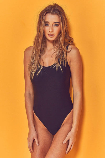 Wolf & Whistle Halley Black Scoop Swimsuit