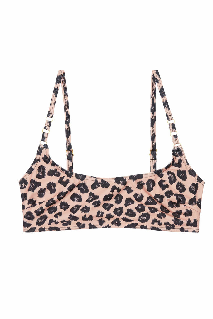 Wolf & Whistle Brown Eco Leopard Bikini Top